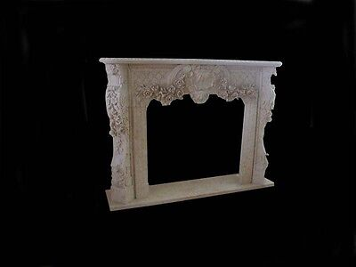 Beautiful Hand Carved Marble French Style Fireplace - Ly006