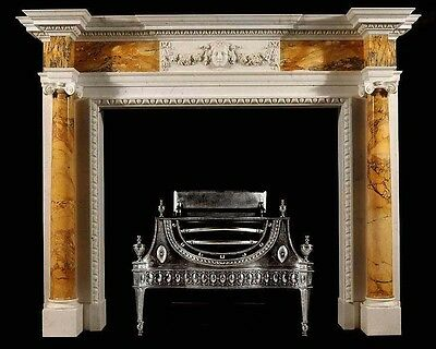 Hand Carved Marble Classical Fireplace Mantel Lm027
