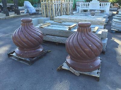 Beautiful Granite Large Post Tops Or Decorative Elements - Jd64