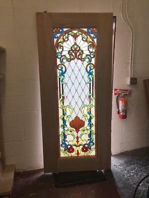 Beautiful Stained Glass Custom Entry Or Interior Door - Jhl161