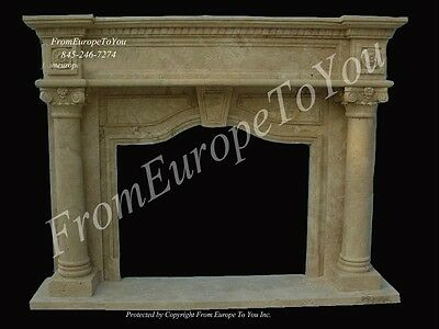 Hand Carved Travertine Fireplace Mantel Tl012