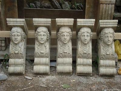 Great Carved Stone Architectural Figural Corbels Vd5