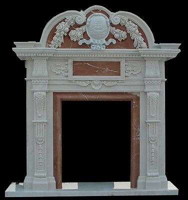 Hand Carved Marble 2 Tone Fireplace Mantel Tl18