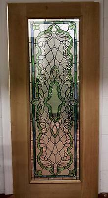 Beautiful Cut Stained Glass  Mahogany Entry Door - Jhl2167-25