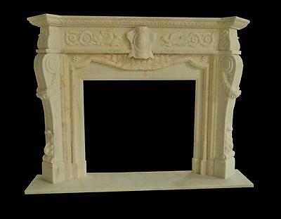 Beautiful Hand Carved Marble Fireplace Mantel - Mntl976