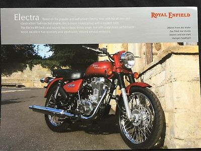 Royal Enfield Electra - Original Sales Brochure / Spec Sheet