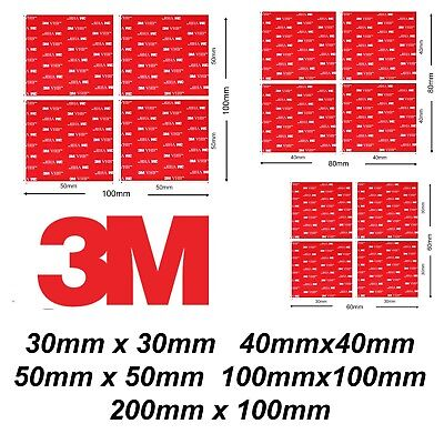 3M Heavy Duty Self Adhesive Stickers Sticky Pads Double Side Mounting Foam Pad