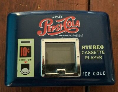 Vintage Pepsi Cola Cassette Stereo Player Mechandise Collectable