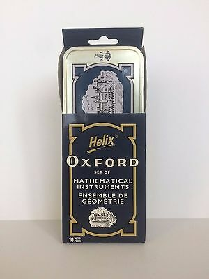 Helix Oxford Set of Mathematical Instruments in Metal Tin