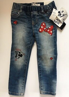 NWT 3T Minnie Mouse Baby Gap Jeans Skinny Legging Jegging Girl