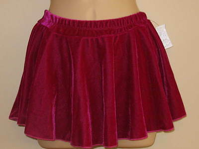 NWT AS & 6-7y Ice Skating Skirt Attached Pants Plum Berry Velvet Ballet Dance