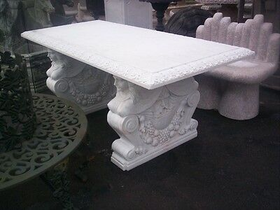 Great Hand Carved Marble Solid Figural Desk -  Dining Room Table - Z035