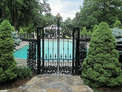 Beautiful Estate Hand Made Wrought Iron Entry Gates #65