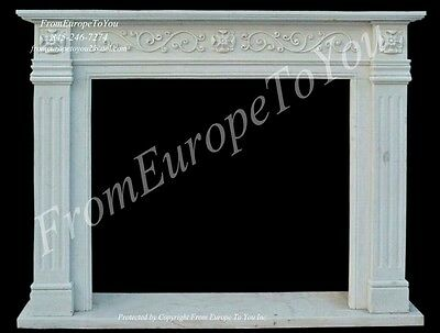 Beautiful Hand Carved Marble Fireplace Mantel Fpl33