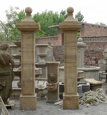 Antique Stone Large Driveway Estate Pillars Asp1