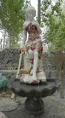 Beautiful Hand Carved Marble Estate Figural Fountain - J902