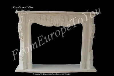 French Style Carved Marble Fireplace Mantel Tl022