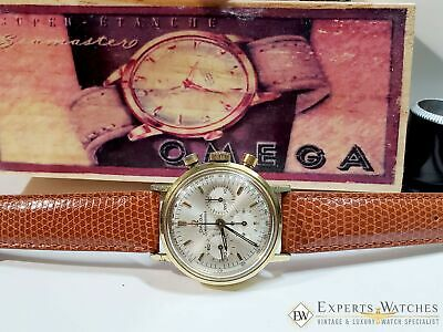 Serviced Vintage Omega SeaMaster Gold Top Chronograph Cal 321 Watch 145.005 Box