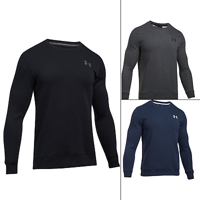 Under Armour Rival Solid Fitted Crew Neck Jumper Gym Sweatshirt Casual Top