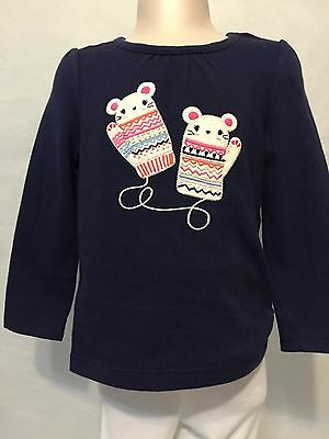 New/Tags 6-12 Month Baby Girl's 100% Cotton Long Sleeve Gymboree Top