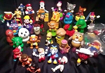 Lot of 35 Various Vintage Children's Cartoon Figurines Movie Toys Disney &  More