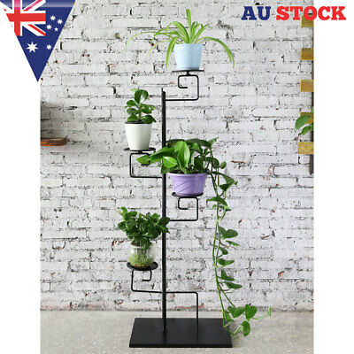 4 Tiers Metal Display Decorative Flower Plant  Pot Shelf Rack Stand Home office