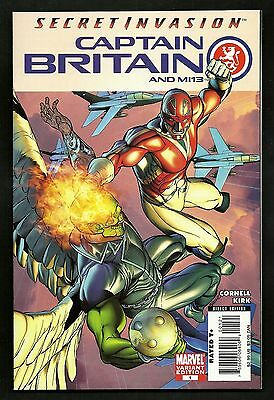 Captain Britain and M13 #1 (Lot of 2) Variant Cover 1st Print Marvel Comics 2008