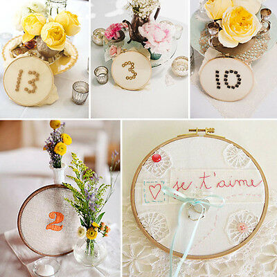 Delicate Bamboo Wooden Craft Embroidery Cross Stitch Hoop Ring Frame 13-34CM