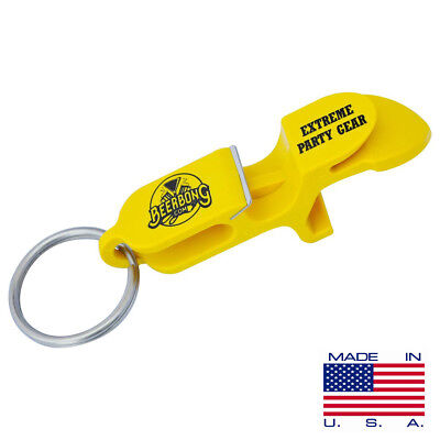 SHOTGUN KEY CHAIN | Beer Can Beer Bong Key Chain | 3-PACK  | Yellow |MADE IN USA
