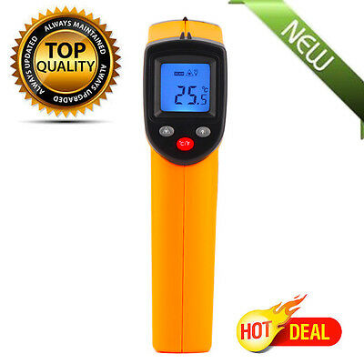 LCD IR Laser Non-Contact Infrared Digital Temperature Meter Thermometer EK