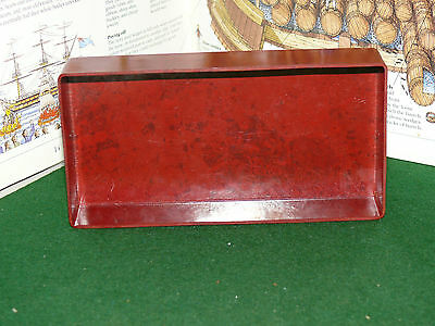 Vintage Bakelite/ Celluloid Small Tray Burgundy SMALL RECTANGLER Tray
