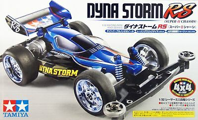 Tamiya 18079 1/32 JR Super Mini 4WD Car Kit Super II Chassis Dyna Storm RS