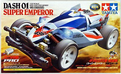 Tamiya 18632 1/32 Mini 4WD Pro Kit MS Chassis JR Dash-01 Super Emperor Model Kit