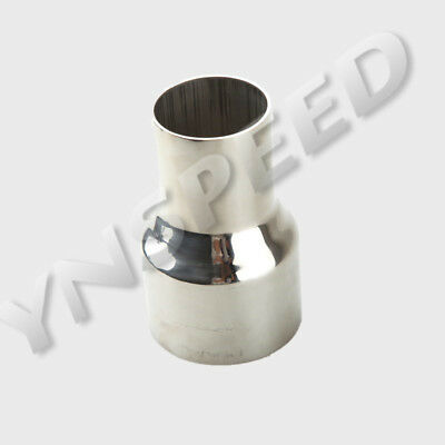 """3"""" ID 76mm To 2.5"""" OD 63mm Stainless Steel Exhaust Pipe Reducer Connector AU"""