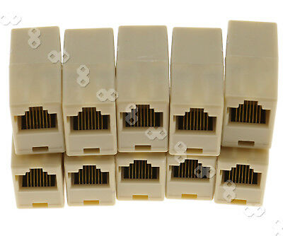 10x RJ45 Coupler Ethernet Network LAN Cable Joiner Connector Extender
