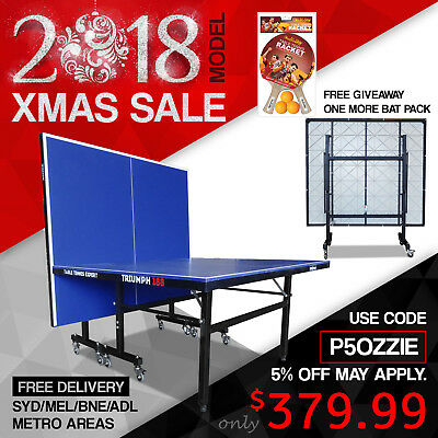 PRIMO Triumph 188 Outdoor Table Tennis Ping Pong Table Free Rackets Net Balls