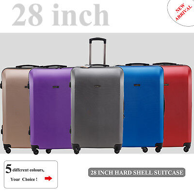 Single 28 inch (100L) Large Luggage Trolley Travel Bag 4 Wheel suitcase