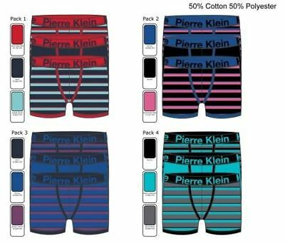 Boys' Pierre Klein 3-Pack Boxer Trunks with Stripes