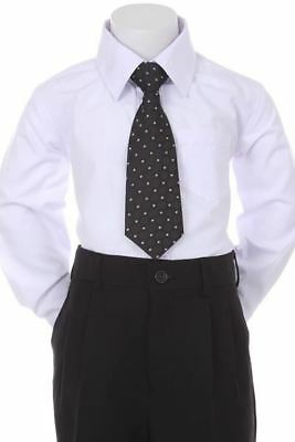 Boys' Formal Woven Pattern Neck Tie - Black with Square Design