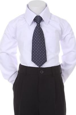 Boys' Formal Woven Pattern Neck Tie - Navy Blue with Star Design