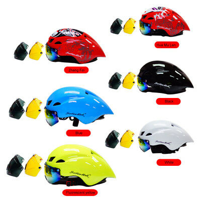 Bicycle Road Cycling MTB Mountain Bike Helmet Protective Safety + Visor Lens