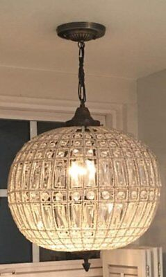 Egypt gift shops French Empire Basket Crystal Orbit Globe Ceiling Chandelier