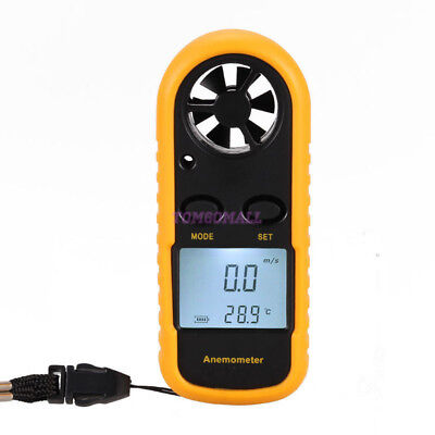 Digital Handheld Anemomete LCD Measuring Wind Speed Mete Temperature Wind Chill