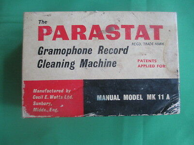 Parastat Gramophone Record Cleaner (Vintage) - Manual Model MK 11 A