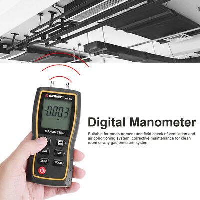 Digital 11 Unit Differential Manometer Air Gauges 30KPa Max Pressure Meter SS
