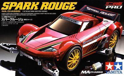 Tamiya 18642 1/32 Mini 4WD Pro Kit MA Chassis JR Spark Rouge Model Kit