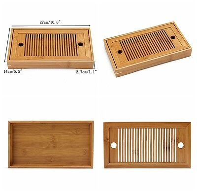 Bamboo Portable Tasteful Chinese Gongfu Tea Table Serving Tray For Home Garden