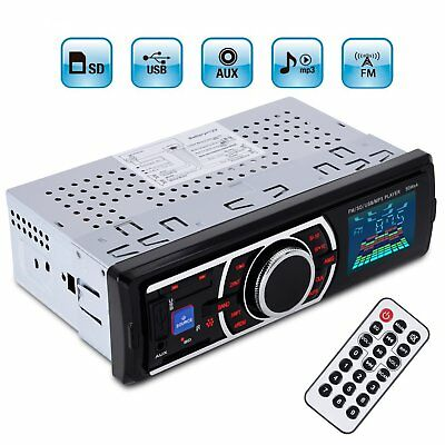 Car Stereo Radio In-Dash Audio FM AUX Input Receiver MP3 Radio Player USB/SD/MCC