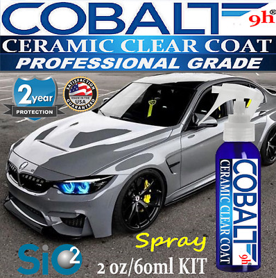 """CAR PAINT CLEAR COATING 9H CERAMIC """"WET LOOK""""  SPRAY ON - 2oz/60ml  MADE IN USA"""
