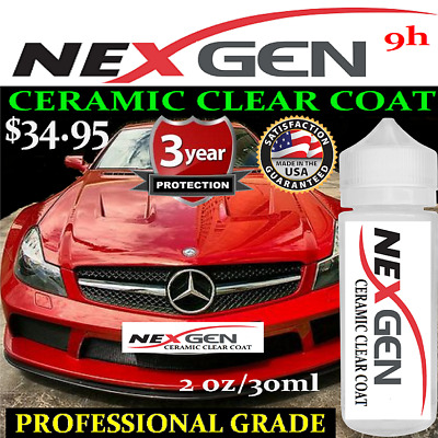 """CERAMIC CAR PAINT PROTECTION 9H NANO COATING  """"WET LOOK"""" - 1oz/30ml  MADE IN USA"""